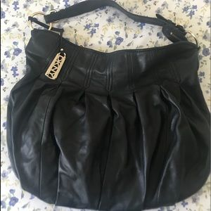 DKNY Pleated Leather Hobo